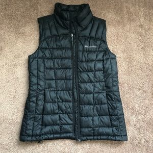 Black Columbia Puffy Vest